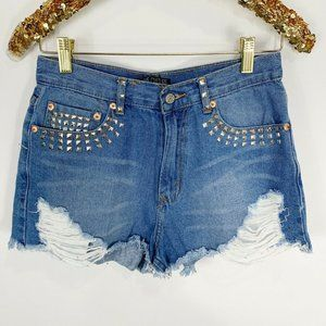 Love Culture Studded Denim Shorts Daisy Dukes D